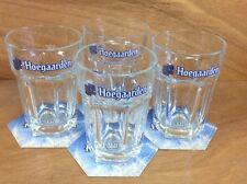 Hoegaarden Beer Glass ~ Set of 4 ~ 25cl. Glasses & 12 Hoegaarden Coasters ~ NEW