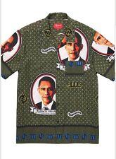 Supreme Obama Shirt Size Medium Green DEADSTOCK!!! 100 percent authentic