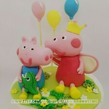 Peppa pig and George Edible Fondant Cake Topper Birthday party decoration