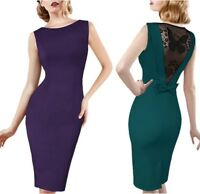 Elegant Womens Lace Cocktail Office Lady Work Party Business Pencil Dresses