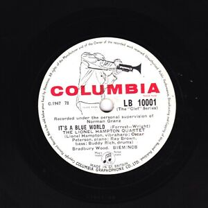 LIONEL HAMPTON  78  FLYING HOME / IT'S A BLUE WORLD  UK COLUMBIA CLEF LB 10001 E