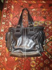 BLACK COACH X-LARGE 10038, POCKETS ON SIDE TOTE