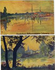 2x AK Abstimmungsgebiet Schleswig ca.1920 Sonderburg Tondern Dänemark