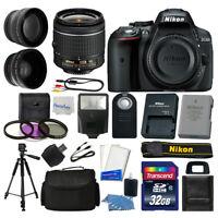 Nikon D5300 Digital SLR Camera + 3 Lens Kit 18-55mm + 32GB Amazing Value Bundle