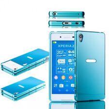 Pare-chocs en aluminium de 2 pièces Couverture Bleu pour Sony Xperia Z3 Plus