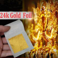 10x Real Gold Foil Leaf 99.99% Pure 24K Food Cake Decor Edible Face Beauty  SP