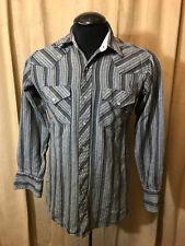Mens Corral West Western Shirt M/S Gray Striped Long Sleeve Acrylic Rockabilly