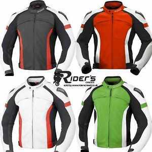 Büse Motorcycle Vermont Leather Jacket - CE certified SAS-TEC shoulder -UK STOCK