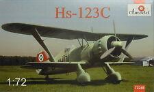 Henschel Hs-123 C , Amodel, Plastikmodellbausatz,  Neuheit