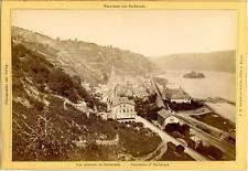 J.H. Schönscheidt, Cöln a. Rhein, Panorama von Bacharach  Vintage albumen print.