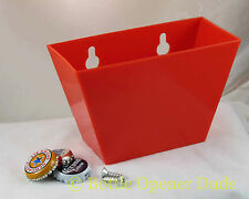 Red Plastic CAP CATCHER For Wall Mount Bottle Openers - Starr X Product NEW!