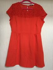 Lace Crew Neck Patternless Cap Sleeve Dresses for Women