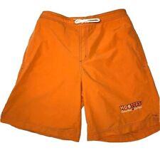 Hooters Las Vegas Board Shorts Swimsuit Mens Medium Orange Swimming Restaurant