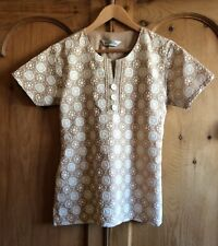 La Fille Fawn Embroidered Tunic with Pearl Decoration - 10/12
