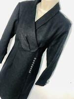 Black Long Sleeve Party Cocktail Jacket Dress Size 12