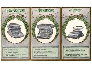 1901 Pan American Expo Souvenir Leaflet Antique Typewriter Advertising Vtg