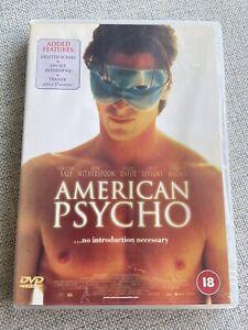 American Psycho DVD 2000 VERY RARE!! EUROPE IMPORT REGION 2 R+18 Christian Bale