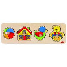 Goki - 2041534 - Puzzle En Bois À Encastrement - Jouets - 15 Pièces