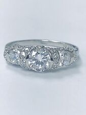 Bridal Engagement 3-Stone CZ W/Accents Ring Sterling Silver Size 7
