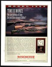 1996 WINCHESTER 1300 Shotgun shown w/Winchester clock Dealer PROMO PRINT AD