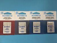 20 Nähmaschine Nadeln Schmetz Nadeln Universal, LEDER und JEANS Nadeln Flachkolb