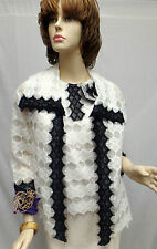 St John Knit COUTURE NWT White Caviar Black 2PC Jacket Shell PIN SUIT SZ 4 $2500