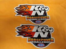 K&N Horsepower Challenge Stickers  Sold as a Pair