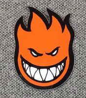 SpitFire Fireball Skateboard Sticker 3in orange si