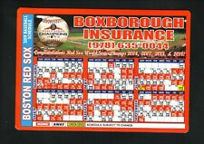 Boston Red Sox--2019 Magnet Schedule