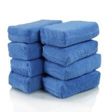 8 PACK BLUE MICROFIBER APPLICATOR PADS SPONGE CAR WASH WAX POLISHING+2 FREE PADS