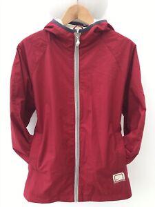 Nike Lightweight Full Zip Jacket Maroon/Grey Trim Youths X.Lge