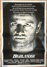 HIGHLANDER MOVIE POSTER 1 Sheet ORIGINAL FOLDED 27x41 CHRISTOPHER LAMBERT
