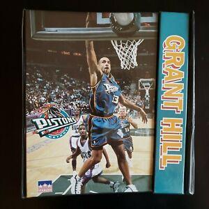 1997 STARLINE Grant Hill Detroit Pistons 3 RING BINDER / TRAPPER KEEPER