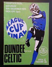 Dundee v Celtic Scottish League Cup Final Programme 15/12/73