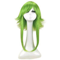 Stylish Cosplay Wig Medium Length Straight Hair Heat Resistant Synthetic Costume