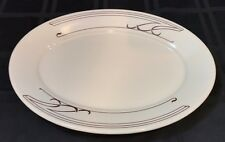 "Homer Laughlin Grassland Oval Platter/Plate 12 3/8""  Brown Trim CCO-1 USA"