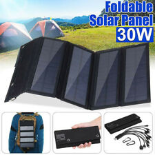 30W 5V Foldable Solar Panel Kit 10-in-1 Usb Charger for Outdoor Travel Camping A