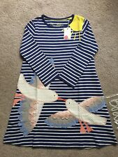 New MINI BODEN Girls Appliqué Jersey Dress, 100% Cotton, SIZE 9-10Y. Sold out!