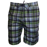 Mens Shorts Swimwear Swim Trunk FREE COUNTRY Vacation Relax Water Green & Blue