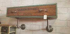 Vintage Industrial Retro Wall Cabinet Cupboard Storage Single Drawer Shelving