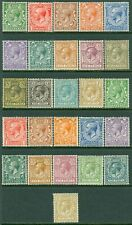 EDW1949SELL : GREAT BRITAIN 1912-24 Sc #159-72, 187-200 Both Cplt sets. Cat $364