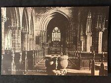 RP Vintage Postcard - Staffordshire #A5 - St Mary's Church Interior, Stafford