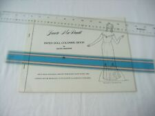 Jeanette MacDonald Paper Doll Coloring Book - Ralph Hodgdon 1981 Signed Uncut