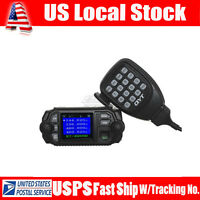 QYT KT-8900D Dual Band Quad Standby 5Tone 25W Mic VHF UHF Cable Car Mobile Radio