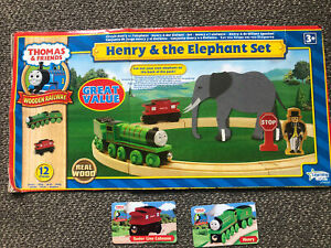 "thomas and friends wooden railway""Henry & The Elephant Set"
