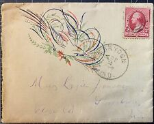 Corydon Indiana cancel on cover with Fancy printed Bird design