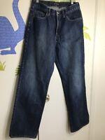 J. Crew Men's Straight Cut Denim Jeans Sz 30 X 32 100% Cotton Made In USA