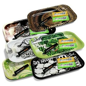 SMIZZLE Medium Rolling Tray Bundles: Tray + Trial Packs + Tube