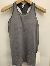 Lululemon Ruche of Adrenaline Tank Nwt Size 8 Htit Grey Color Ruching