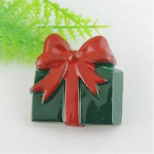 12pcs Multi-Colors Resin Christmas Gift Box Flatback Cabochon DIY Crafts 38996